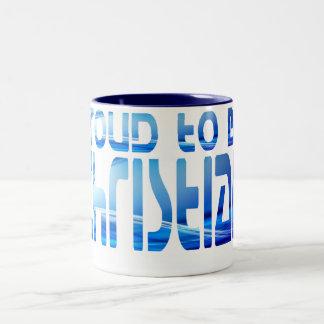 Proud to be Christian Bleu 2 Two-Tone Coffee Mug