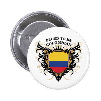 Proud to be Colombian 2 Inch Round Button