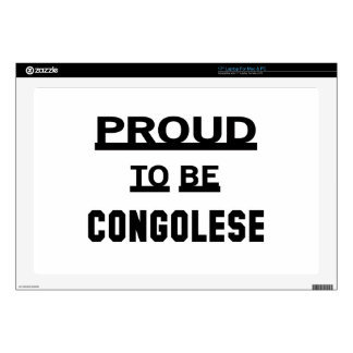 """Proud to be Congolese. 17"""" Laptop Decal"""