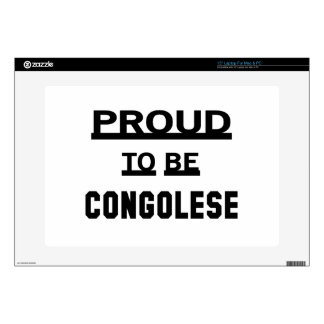 Proud to be Congolese. Decal For Laptop