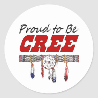 Proud To Be Cree Decal or Sticker Sheets