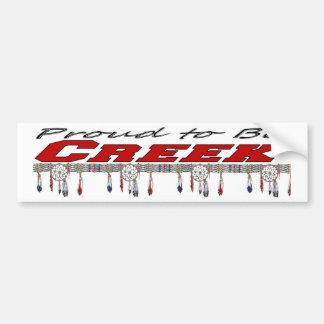 Proud To Be Creek Bumper Sticker