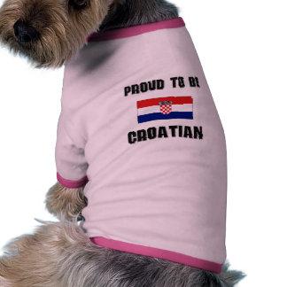 Proud To Be CROATIAN Dog T-shirt