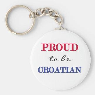 Proud To Be Croatian Keychain