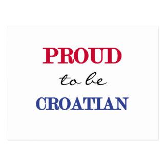 Proud To Be Croatian Postcard