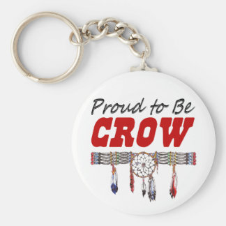 Proud to be Crow Key Chain Basic Round Button Keychain