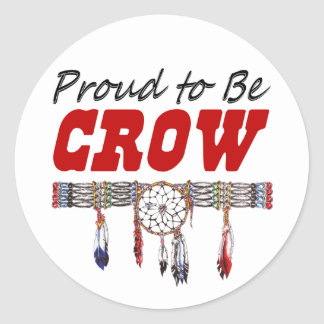Proud to be Crow Window Decal or Stickers