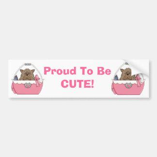 Proud To Be Cute Bumper Sticker Purse Pets