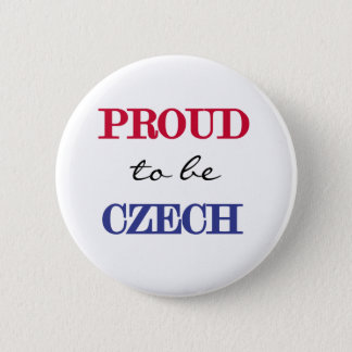 Proud To Be Czech Pinback Button