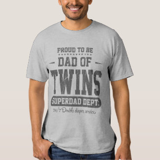 Proud To Be Dad Of Twins Superdad Dept. Grey T-shirt