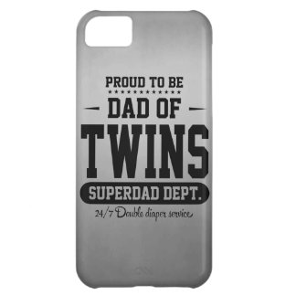Proud To Be Dad Of Twins Superdad Dept. iPhone 5C Cases