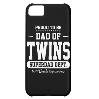 Proud To Be Dad Of Twins Superdad Dept. iPhone 5C Cover