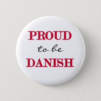 Proud To Be Danish Pinback Button