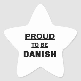 Proud to be Danish Star Sticker