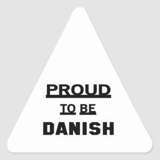 Proud to be Danish Triangle Sticker