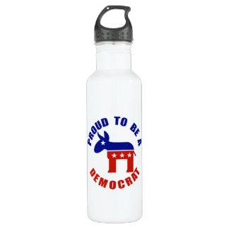 Proud to be Democrat Water Bottle
