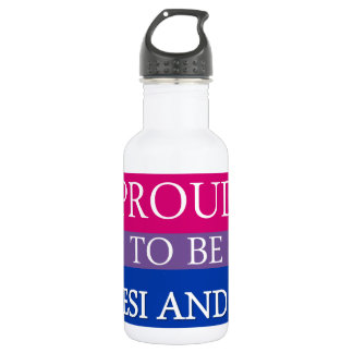 Proud to Be Desi and Bi Water Bottle