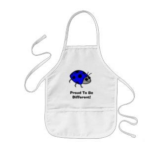 Proud To Be Different Blue Ladybug Kids' Apron