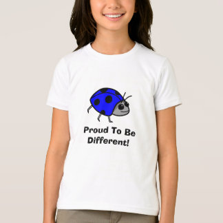 Proud To Be Different Blue Ladybug T-Shirt