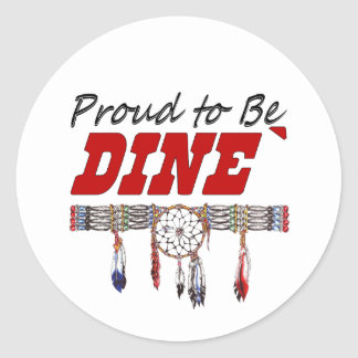 Proud to be Dine' Window Decal or Stickers Sheet