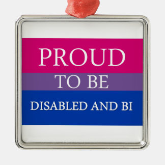 Proud to Be Disabled and Bi Metal Ornament