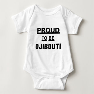 Proud to be Djibouti Baby Bodysuit