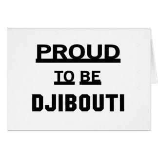 Proud to be Djibouti Card