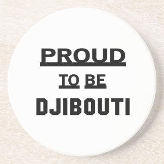 Proud to be Djibouti Drink Coaster