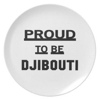 Proud to be Djibouti Melamine Plate