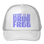 Proud To Be Drug Free 2 Light Blue Mesh Hat