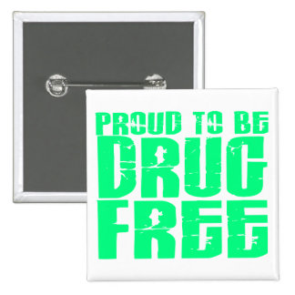 Proud To Be Drug Free 2 Light Green Pin