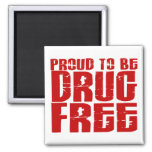 Proud To Be Drug Free 2 Magnets