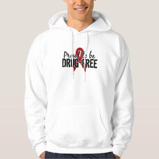 Proud To Be Drug Free Hooded Sweatshirt
