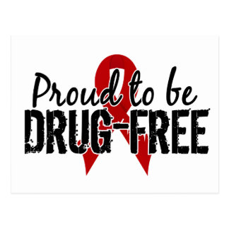 Proud To Be Drug Free Postcard