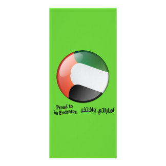 Proud to be Emirates Book Mark Rack Card