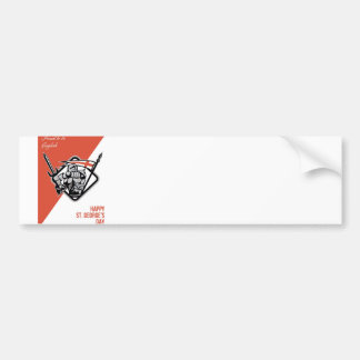 Proud To Be English Happy St George Greeting Card Bumper Sticker