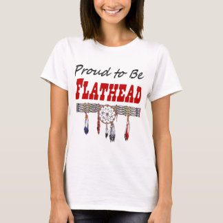 Proud To Be Flathead Ladies Fitted T-Shirt