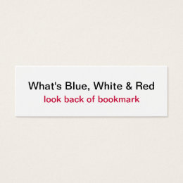 Proud to be French Flag Bookmark Mini Business Card