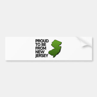 Proud to be from New Jersey Bumper Sticker