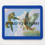 Proud to be furry mousepad
