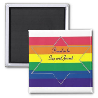Proud to be Gay & Jewish 2 Inch Square Magnet