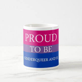 Proud to Be Genderqueer and Bi Classic White Coffee Mug