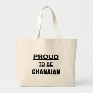 Proud to be Ghanaian Large Tote Bag