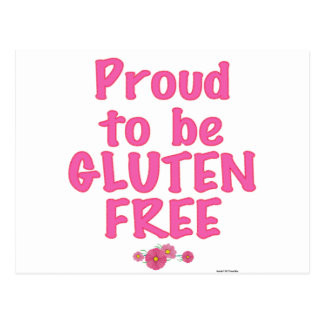 Proud to Be Gluten Free - Pink Post Card