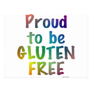 Proud to Be Gluten Free Postcard