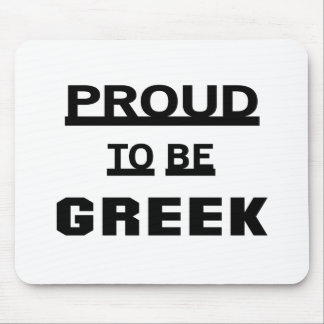 Proud to be Greek Mouse Pad