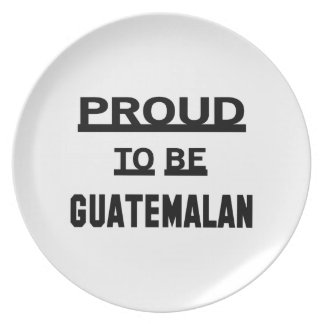 Proud to be Guatemalan Plate