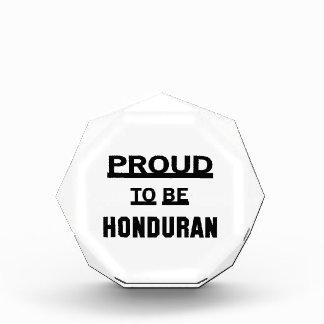 Proud to be Honduran Acrylic Award