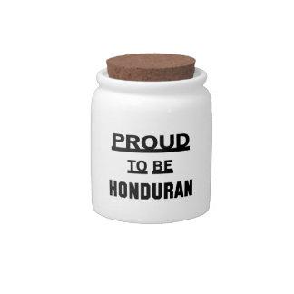 Proud to be Honduran Candy Jar