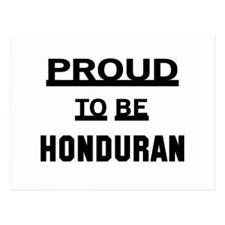 Proud to be Honduran Postcard